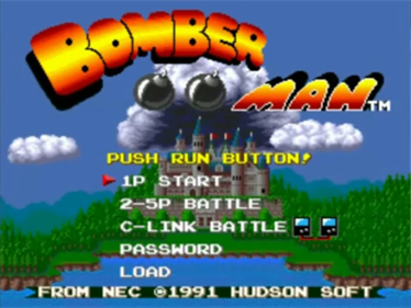 Bomberman - Screenshot - Game Title