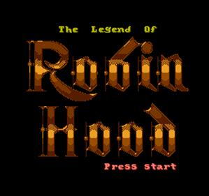The Legend of Robin Hood - Screenshot - Game Title