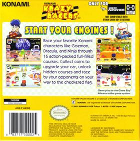 Konami Krazy Racers - Box - Back