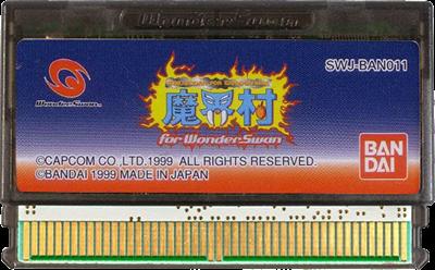 Makaimura for WonderSwan - Cart - Front