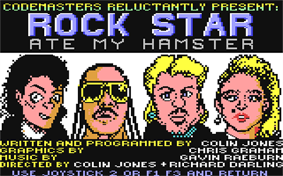 Rock Star Ate My Hamster - Screenshot - Game Select