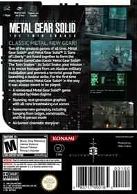 Metal Gear Solid: The Twin Snakes - Fanart - Box - Back