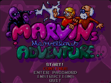 Marvin's Marvellous Adventure - Screenshot - Game Title
