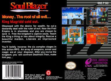 Soul Blazer - Box - Back