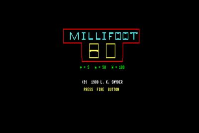 Millifoot 128 - Screenshot - Game Title