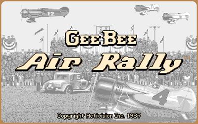 Gee Bee Air Rally - Screenshot - Game Title