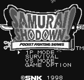 Samurai Shodown!: Pocket Fighting Series - Screenshot - Game Title