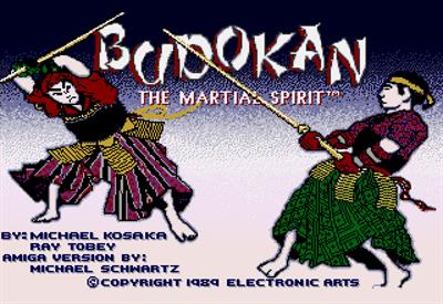 Budokan: The Martial Spirit - Screenshot - Game Title