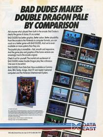 Bad Dudes Vs. DragonNinja - Advertisement Flyer - Front