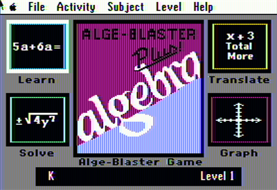 Alge-Blaster Plus! - Screenshot - Game Select