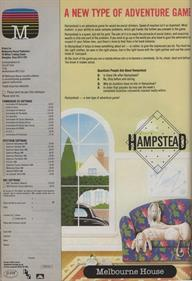 Hampstead - Advertisement Flyer - Front