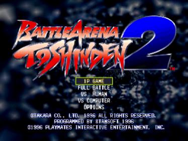 Battle Arena Toshinden 2 - Screenshot - Game Title