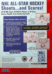 NHL All-Star Hockey '95 - Box - Back