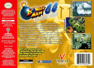 Bomberman 64: The Second Attack! - Box - Back