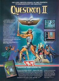 Questron II - Advertisement Flyer - Front