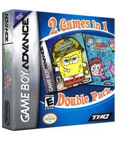 2 Games in 1: SpongeBob SquarePants: Battle for Bikini Bottom + The Fairly OddParents!: Breakin' da Rules - Box - 3D