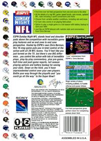 ESPN Sunday Night NFL - Box - Back