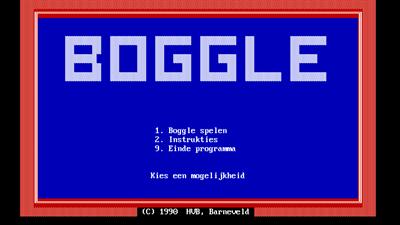 Boggle - Screenshot - Game Title