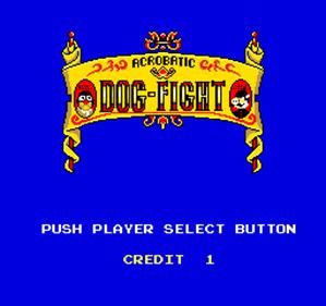Acrobatic Dog-Fight - Screenshot - Game Select