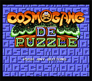 Cosmo Gang DE Puzzle - Screenshot - Game Title