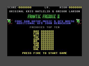 Frantic Freddie II - Screenshot - High Scores
