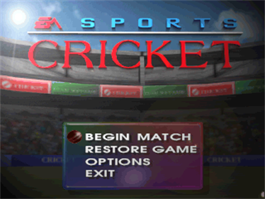 Cricket 96 - Screenshot - Game Title