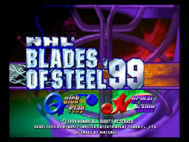 NHL Blades of Steel '99 - Screenshot - Game Title