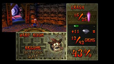 Crash Bandicoot 2: Cortex Strikes Back - Screenshot - Game Select