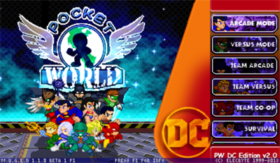 Pocket World: DC Edition - Screenshot - Game Title