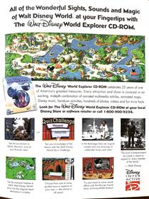 The Walt Disney World Explorer - Advertisement Flyer - Front