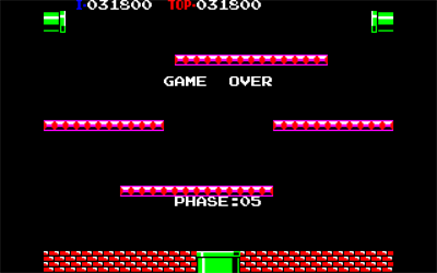 Punch Ball Mario Bros. - Screenshot - Game Over