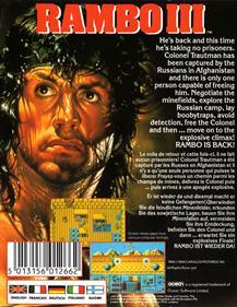Rambo III - Box - Back