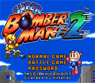Super Bomberman 2 - Screenshot - Game Title
