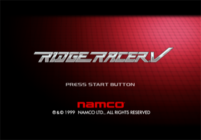 Ridge Racer V - Screenshot - Game Title