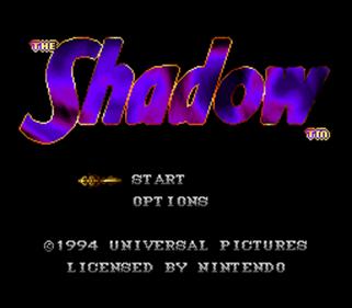 The Shadow - Screenshot - Game Title