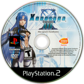 Xenosaga Episode III: Also Sprach Zarathustra - Disc