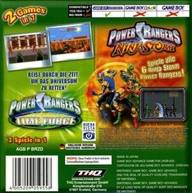 2 Games In 1 Double Pack: Power Rangers: Time Force / Power Rangers: Ninja Storm - Box - Back