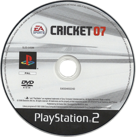 Cricket 07 - Disc