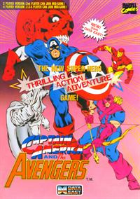Captain America and the Avengers - Advertisement Flyer - Front