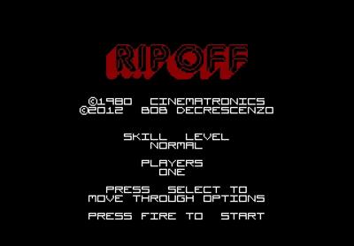 Rip-Off - Screenshot - Game Title
