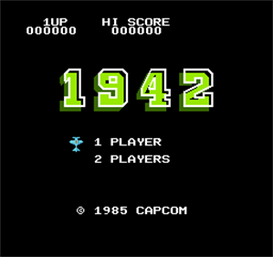1942 - Screenshot - Game Title