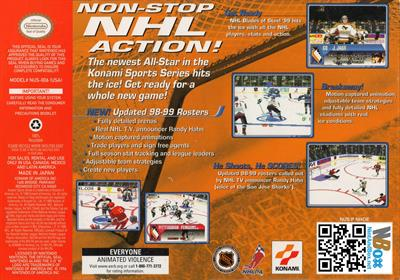 NHL Blades of Steel '99 - Box - Back