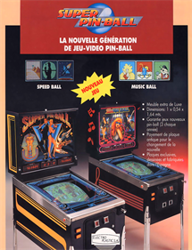 Super Pinball Action - Advertisement Flyer - Front