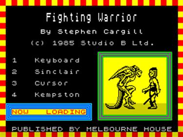 Fighting Warrior - Screenshot - Game Title