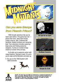 Midnight Mutants - Box - Back