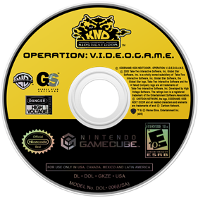 Codename: Kids Next Door: Operation: V.I.D.E.O.G.A.M.E. - Disc