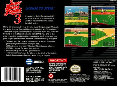 Super Bases Loaded 3: License to Steal - Box - Back