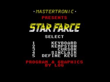 Starfarce - Screenshot - Game Select