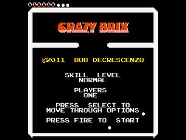 Crazy Brix - Screenshot - Game Title