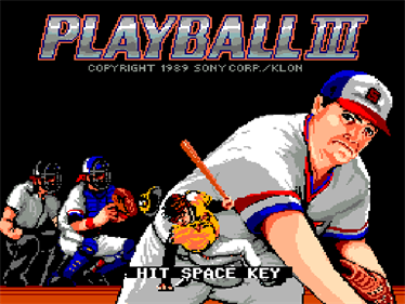 Playball 3 - Screenshot - Game Title